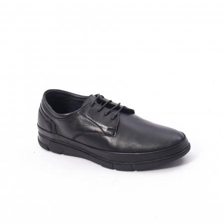Pantofi casual de barbat din piele naturala, Catali 192550 negru0