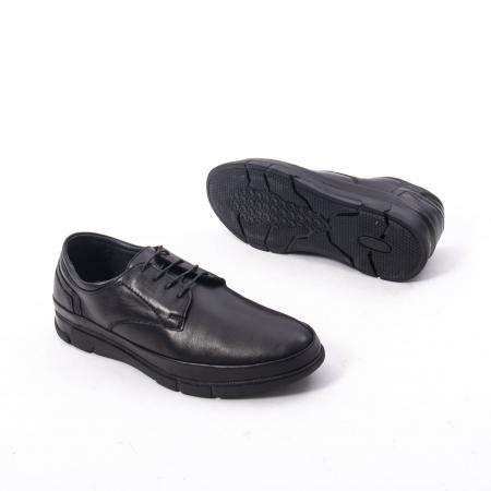 Pantofi casual de barbat din piele naturala, Catali 192550 negru2