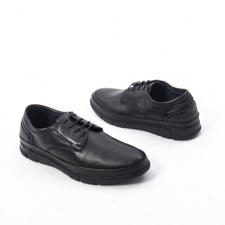 Pantofi casual de barbat din piele naturala, Catali 192550 negru3