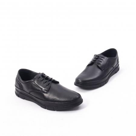 Pantofi casual de barbat din piele naturala, Catali 192550 negru4