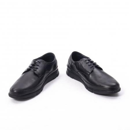 Pantofi casual de barbat din piele naturala, Catali 192550 negru6
