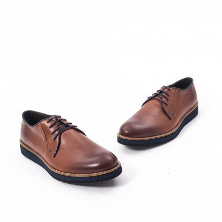 Pantofi casual barbati din piele naturala, Catali 505, coniac3