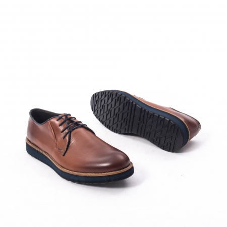Pantofi casual barbati din piele naturala, Catali 505, coniac5