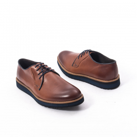 Pantofi casual barbati din piele naturala, Catali 505, coniac6