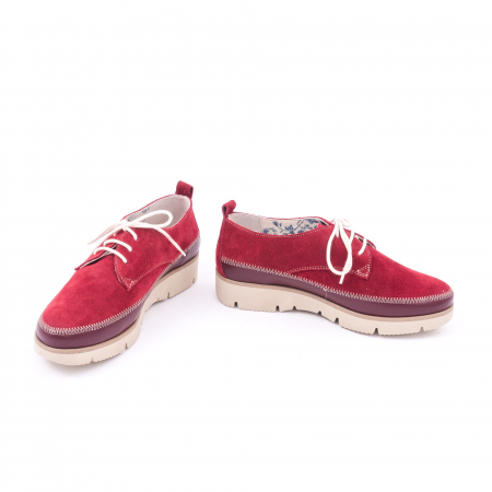 Pantofi casual LFX 198 visiniu velur.4