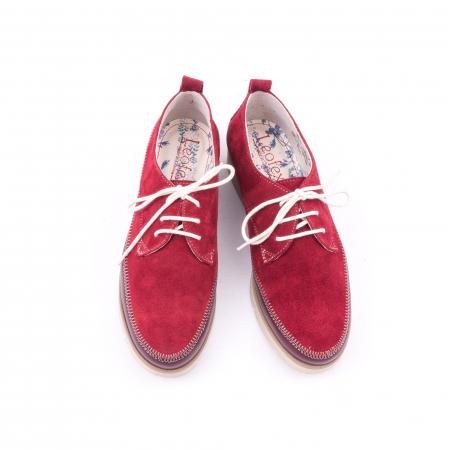Pantofi casual LFX 198 visiniu velur.5