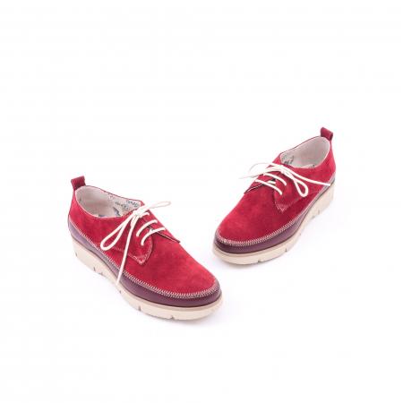 Pantofi casual LFX 198 visiniu velur.1
