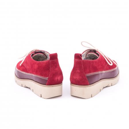 Pantofi casual LFX 198 visiniu velur.6