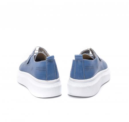 Pantofi dama casual din piele naturala, PsC C592100 07-N, albastru6
