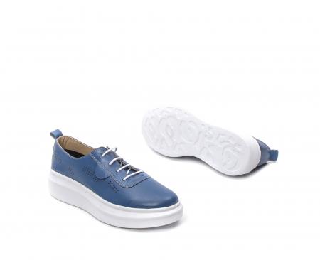 Pantofi dama casual din piele naturala, PsC C592100 07-N, albastru3