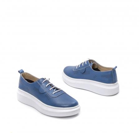 Pantofi dama casual din piele naturala, PsC C592100 07-N, albastru2