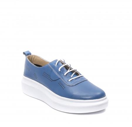 Pantofi dama casual din piele naturala, PsC C592100 07-N, albastru0