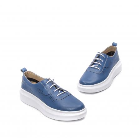 Pantofi dama casual din piele naturala, PsC C592100 07-N, albastru1