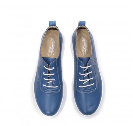 Pantofi dama casual din piele naturala, PsC C592100 07-N, albastru5