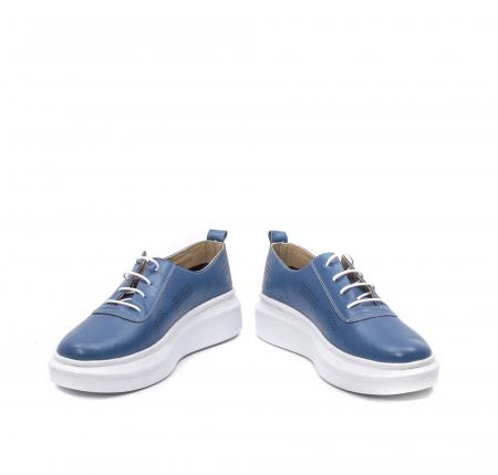 Pantofi dama casual din piele naturala, PsC C592100 07-N, albastru4