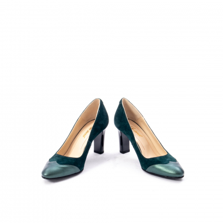 Pantofi eleganti dama, piele naturala, Nike Invest, 265 VS1 verde4