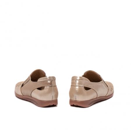 Pantofi dama casual de vara, piele naturala texturata, ZJ141526