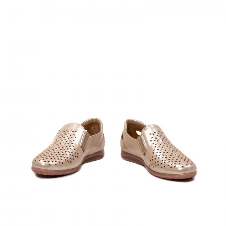 Pantofi dama casual de vara, piele naturala texturata, ZJ141524