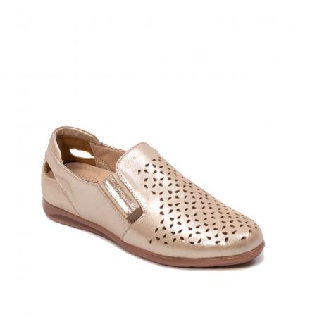 Pantofi dama casual de vara, piele naturala texturata, ZJ141520