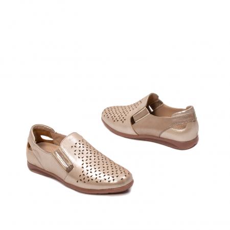 Pantofi dama casual de vara, piele naturala texturata, ZJ141522
