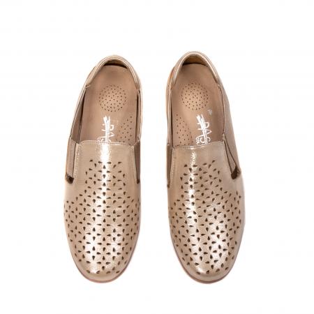 Pantofi dama casual de vara, piele naturala texturata, ZJ141525