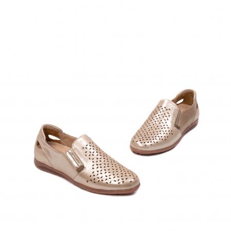 Pantofi dama casual de vara, piele naturala texturata, ZJ141521