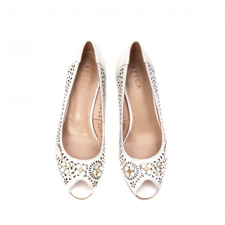 Pantofi dama de vara elegante, piele naturala, EP  2595