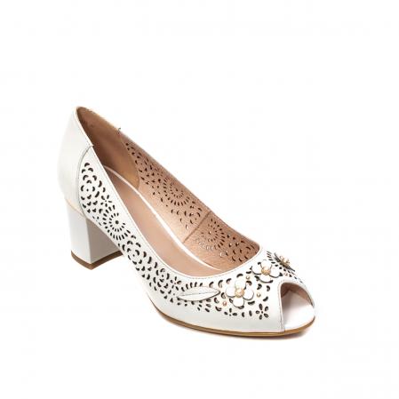 Pantofi dama de vara elegante, piele naturala, EP  2590