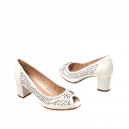 Pantofi dama de vara elegante, piele naturala, EP  2592