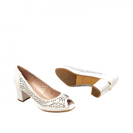 Pantofi dama de vara elegante, piele naturala, EP  2593