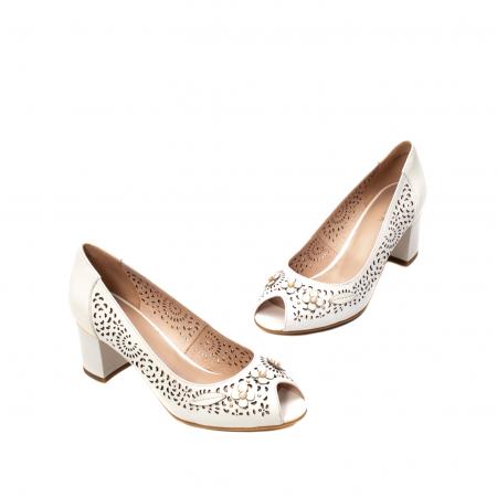 Pantofi dama de vara elegante, piele naturala, EP  2591
