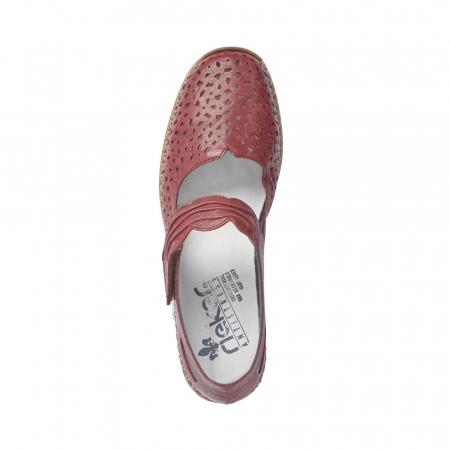 Pantofi dama de vara, piele naturala, Rik 41399-35, grena5