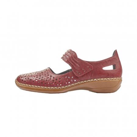 Pantofi dama de vara, piele naturala, Rik 41399-35, grena4