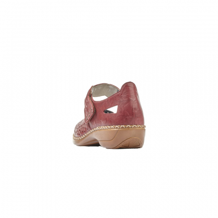 Pantofi dama de vara, piele naturala, Rik 41399-35, grena2