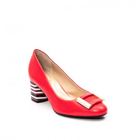 Pantofi dama eleganti, piele naturala, EP-oe1678-561-586, multicolor