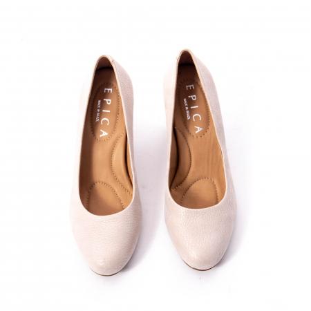 Pantofi dama eleganti piele naturala Epica oe7122, nude5