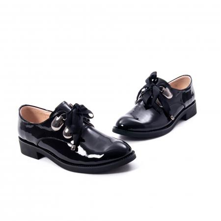 Pantofi casual dama din piele naturala Epica jixs320-01,negru lac4