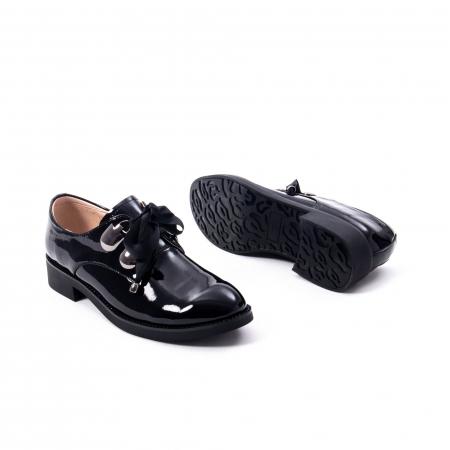 Pantofi casual dama din piele naturala Epica jixs320-01,negru lac5