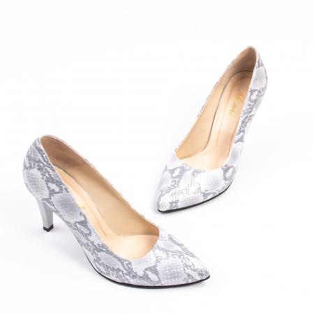 Pantofi dama Nike Invest 11702A piele naturala, argintiu1
