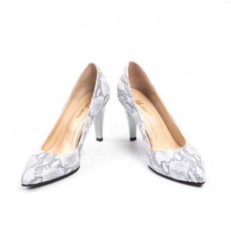 Pantofi dama Nike Invest 11702A piele naturala, argintiu4
