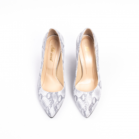 Pantofi dama Nike Invest 11702A piele naturala, argintiu5
