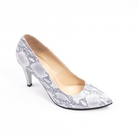 Pantofi dama Nike Invest 11702A piele naturala, argintiu0