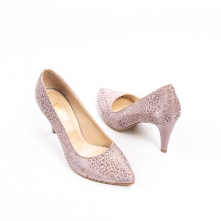 Pantofi dama Nike Invest 11709B piele naturala, pudra2