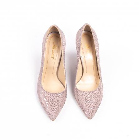 Pantofi dama Nike Invest 11709B piele naturala, pudra5