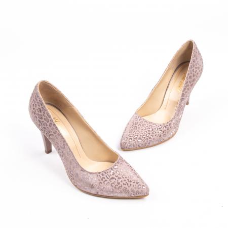 Pantofi dama Nike Invest 11709B piele naturala, pudra1