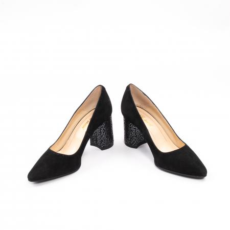Pantofi dama piele naturala Nike Invest 322-buf, negru velur4