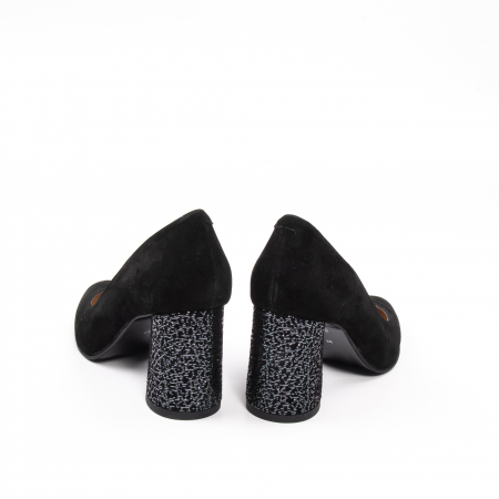 Pantofi dama piele naturala Nike Invest 322-buf, negru velur6