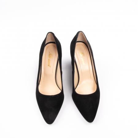 Pantofi dama piele naturala Nike Invest 322-buf, negru velur5