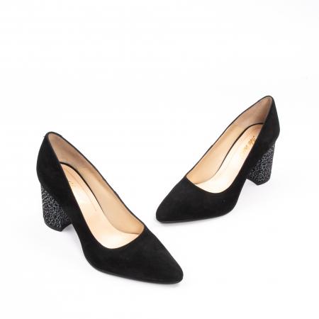 Pantofi dama piele naturala Nike Invest 322-buf, negru velur1