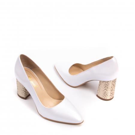 Pantofi dama Nike Invest 322 piele naturala, alb sidef2